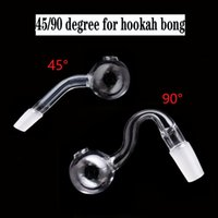 new arriver 45 90 degree glass oil burner pipe for hookah bong 10mm 14mm 18mm male female thick pyrex glass water pipes smoking accessories