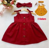 Dresses Baby Girl Sleeveless Solid Color Summer Party Casual Tutu Dress Outfit