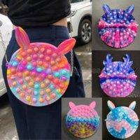 Fidget oyuncaklar duyusal moda makyaj sikke çanta çanta itme kabarcık gökkuşağı anti stres eğitici çocuklar ve yetişkinler dekompresyon oyuncak kız hediye sürpriz cs17