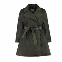 Designer womens windbreaker Coat Mid Length Knee Lengths A line Skirt Womenss Casual coats Autumn And Winter Goose Down High Quality Fashion Jacket S-XL 2 colors