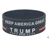 Trump 2024 pulsera de silicona negro azul rojo pulsera fiesta favorece 4 colores DHE8564
