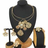 Earrings & Necklace Selling Brazilian Gold Luxury Copper Plated Jewelry Set Italian Four Sets Women Party Wedding Gift