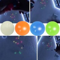 Party Supplies Ceiling Sticky Wall Squeeze Ball Toys Gift Luminous Glow In The Dark Parent Child Interaction Squishy Anti Stress Balls Stretchable DH9588