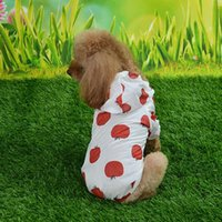 Dog Apparel Raincoat Sun-proof Clothing Summer Sun Protection Hoodie Small Clothes Print Poncho For Medium Pets Puppy