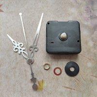 Wholesale 1000PCS Sweep Short 12MM Shaft Clock Quartz Movement with Silvery Metal Arms Repair Kit Accessories