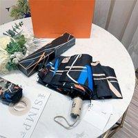 Женщины Мода Покупки Три Складные Автоматические Зонтики Бренд 8 Рбрак Ветрозащитный Черный Гольф Зонтик Parasol