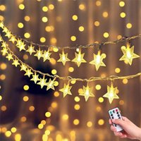 Strings 10M 6M LED Christmas Star String Fairy Lights Battery USB Remote Indoor Outdoor Garlands For Home Wedding Party Year Decor