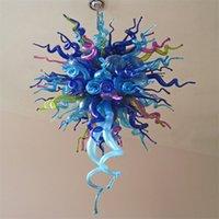Lámparas colgantes led decorativas modernas Lámparas de cristal Chandeliers Hermoso murano vidrio Multi coloreado Luces de araña creativa hogar de la familia Iluminación 60 * 90 cm