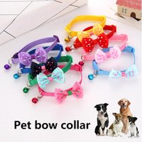 Dog Collars & Leashes 1 Pcs Pet Bow Collar With Bell Puppy Cat Bowknot Neck Strap Dressing Favors GQ999