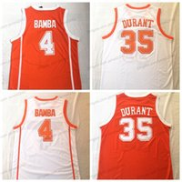 Texas Longhorns Kevin Durant Mohamed Bamba College Basketball Jersey Hombre cosido cosido Naranja Jerseys Top Calidad