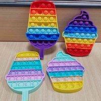 50 adet / DHL Gökkuşağı Popsicle Bubble Poppers Pop It Fidget Oyuncaklar Duyusal Kabarcıklar Yapboz Yetişkin Çocuk Anksiyete Stres Rahatlatıcı Koo-Itesi Masaüstü Oyunu H41VARG