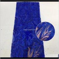 Vêtements Vêtements Paillettes africaines Tissu de dentelle en treillis de haute qualité de haute qualité pour la robe de fête nigériane Drop Livraison 2021 BHDQ0