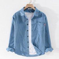 Herbst und Frühling Corduroy Reine Baumwollhemd Männer Mode Retro Hemden für komfortable Marke Herren Overhemd Camisa Herren Casual