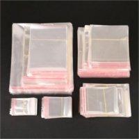 200 pz / set Borse di archiviazione Cancella autoadesivo Seal Plastica Borsa da imballaggio in plastica Ricaricabile Orecchini cellophane Orecchini OPP Poly Regalo Pacakge