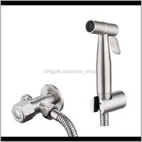 Heads Faucets, Showers Accs Home & Garden Drop Delivery 2021 Stainless Steel Hand Held Faucet Bidet Set Sprayer Toilet Spray For Bathroom Sho