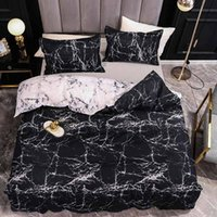Marble Bedding Set For Bedroom Soft Bedspreads Double Bed Home Comefortable Duvet Cover Quality Quilt And Pillowcase Sets