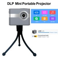 C50 미니 DLP 프로젝터 휴대용 비디오 홈 시네마 내장 2500mAh 배터리 3W 스피커 야외 소형 비머 지원 TV 박스 화재 스틱과 Dolby USB 작업 지원