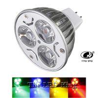 Birnen 10 stücke super hell 9w 12w 15W Gu5.3 LED-Birne 220V dimmbare Scheinwerfer warm / rot / grün / blau / cool gu 5.3-Lampe