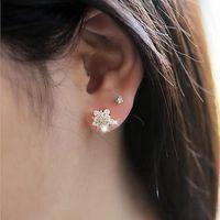 Stud Wedding Zircon Jewelry Earings Statement Earrings Cute Crystal Snowflake Earring For Women Accesorios Mujer Pendientes