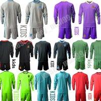 Bambini a maniche lunghe National Team Football de Gea Portiere di calcio Jersey Iker Iker Casillas Kit Casa Away Set Uniform