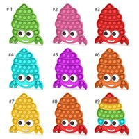 Favor push pop toy children's educational Finger bubble hermit crab silicone decompression toys