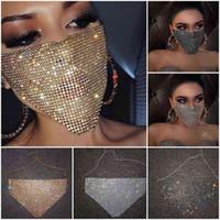 Europa e Stati Uniti Trend of New Diamond Masks Network Red Blash Diamond Masks Personality Creative Decorative Donne Maschere di moda