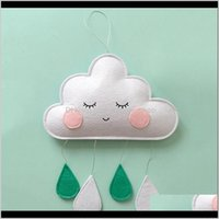 Decorative Objects Figurines Aents Décor & Garden Home Wall Decor Ins Felt Clouds Raindrop Pendant Baby Hanging Ornaments Nordic Kids Room D