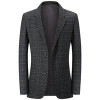 Men's Suits & Blazers Blazer Casual Masculino De Corte Justo, Jaqueta Lã Com Vestido Clássico, Para Negócios, 2021