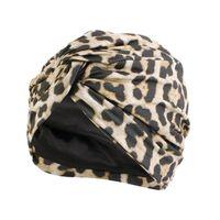 Beanie Skull Caps Fashion Design Women Muslim Leopard Print Turban Hat Cancer Chemo Cap Hair Bonnet Head Scarf Wrap Cover Accessories