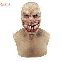 Cosmask 2020 Halloween Screy Latex Headwear para adulto traje adultos adereços horror engraçado cosplay festa máscara antiga máscaras q0806