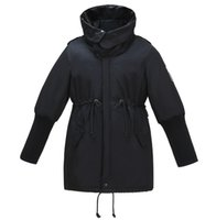 Kissqiqi إمرأة الشتاء مقنعين أسفل معطف الدافئة خندق معاطف بارك منتصف البخاخ سترة سترة واقية