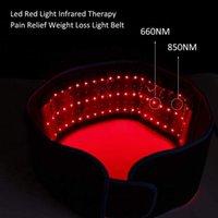 Cintura di terapia luminosa a LED a infrarossi rossa 850nm 660nm back antidolorifico perdita di peso perdita di peso perdita di peso che dimagrante la vita tampone di calore massaggiatore
