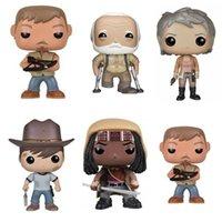 Pop The Walking Dead Carl Daryl Dixon Hershel Greene Figure con scatola Vinyl Action Model Giocattoli per bambini regalo