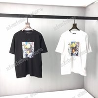 2021 Designers Menseurs T-shirts T-shirts Polo Timbre Label Imprimer homme Paris Mode T-shirt Top Qualité Tees Street Street Sleeve Luxurys T-shirts Blanc Black 05