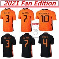 20 21 Holland Memphis de Jong Soccer Jersey Ligt Нидерланды Strootman Van Dijk 2022 Fan Edition