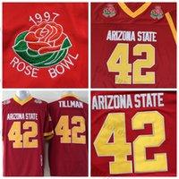 Mens Arizona State Sun Devis 42 Pat Tillman College Football Trikots Maroon Asu Vintage Stitched Hemden 1997 Rose Bowl Patch S-XXL