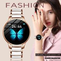 LIGE Luxury Smart Watch Women Waterproof Sports Tracker For Android Reloj inteligente Ceramic Strap smart watch Men
