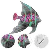 Other Garden Supplies Metal Ocean Fish Wall Decor Outdoor Home Art Sculpture Hanging Decoration