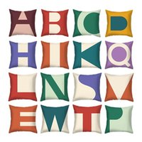 Cojín / almohada decorativa Hogar letra geométrica Patrón cuadrado Caja de lanzamiento Creativo Poliéster Peach Cojín de piel Cubierta de asiento de coche Sofá cama
