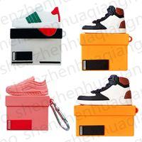 Chaussures de marque Sports de mode Chaussures Bluetooth sans fil pour AirPods 1 2 pro Square Stéréo Shoebox 3D Silicon Écouteur couverture