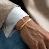 Cuff Bracelets Bangles Men Women Stainless Steel Gold Love Viking Unisex Pulseras Fashion Jewelry Gift Valentine's Day