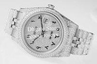3 estilo relógio masculino homens automático 2824 ETA relógios Árabe Roma Wimbledon inlaying Diamante Dial Bezel Data 41mm Diamantes Jubilee Pulseira TWF relógios de pulso
