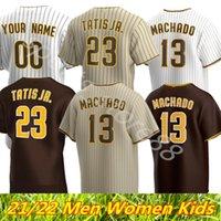 2021 샌디에고 23 페르난도 Tatis Jr. Jersey 13 Manny Machado 9 Jake Cronenworth 19 Tony Gwynn 29 Dinelson Lamet Baseball Jerseys