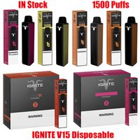 Novo I Gn TE V15 Dispositivo Dispositivo Devista V15 E Cigarros 1500 Puffs 850mAh Bateria 5.1ML Cartucho Prefilado Vape Stick Pen vs Bang XXL