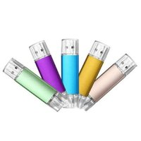 32GB 64g USB 2.0 Flash Drives OTG Dual Port Memory Stick For Android Smart Phone
