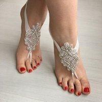 뜨거운 섬세한 레이스 발목 렛 2019 Sandbeach Barefoot 쥬얼리 웨딩 신부 신부 들러리 발 jewellery를위한 저렴한 스트레치 다리 팔찌
