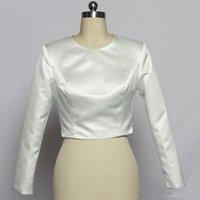 Wraps & Jackets Long Sleeve Wedding Jacket Bolero Satin Women Dress Top Bridal Wrap Shrug Custom Made