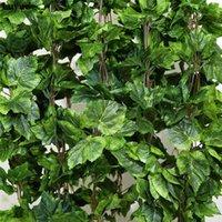 Plantas artificiales 12 unids planta artificial flor de seda hoja de uva colgante guirnaldas Faux vid de la boda decoración para el hogar HWD6080
