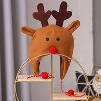 Party Hats, дружественные для кожи Санта-Клаус Матовый Длинный веревочка Топпер взрослый Детский Дерево Украшение Шляпы Легкий для рождественского моря Корабль GWE9763