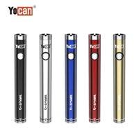 YOCAN B-Smart Vape Battery Pen 320mAh Slim Twist Preheat VV Bottom Tensione regolabile E CIG 510 con stand display DHL Produzione professionale